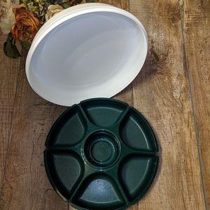 COPY - Tupperware Condiments Tray Green White
